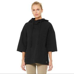 Alo Yoga Falls Short Sleeve Pullover Hoodie NWT